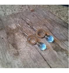 Loops med blå topas