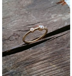 Dobbelt brillant ring